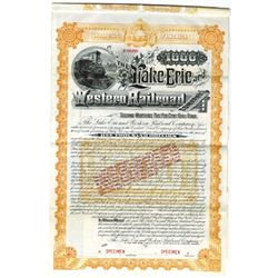 Lake Erie and Western Railroad Co., 1891 Specimen Bond