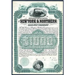 New York & Northern Railway Co., Specimen Bond.