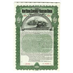 New York Central and Hudson River Railroad Co., 1898 Specimen Bond