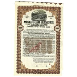 Otsego and Herkimer Railroad Co., 1912 Specimen Bond