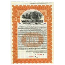 Twenty-Third Street Railway Co., 1912 Specimen Bond.