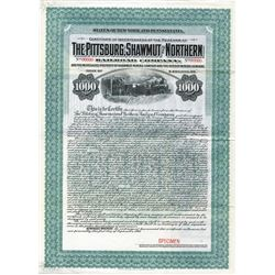 Pittsburg, Shawmut and Northern Railroad Co., 1905 Specimen Bond