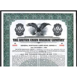 Dayton Union Railway Co. 1940. Specimen Bond.