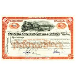 Cleveland, Cincinnati, Chicago & St. Louis Railway Co., ca.1900-1910 Specimen Stock Certificate
