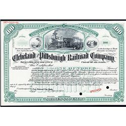 Cleveland and Pittsburgh Railroad Co., Specimen Stock Certificate.