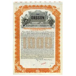Oregon Shortline Railroad Co., Specimen Bond.