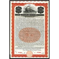 Oregon-Washington Railroad & Navigation Co. Bond.