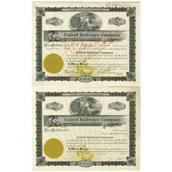 United Railways Co., 1920 Stock Certificates