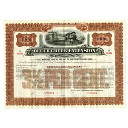 Beech Creek Extension Railroad Co., ca.1890-1900 Specimen Bond