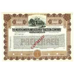 Northumberland County Traction Co., ca.1920-1930 Specimen Stock Certificate