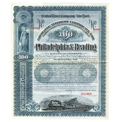 Philadelphia & Reading Railroad Co., ca.1920-1930 Specimen Bond