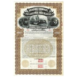 Reading Co. and the Philadelphia and Reading Coal and Iron Co., ca.1920-1930 Specimen Bond