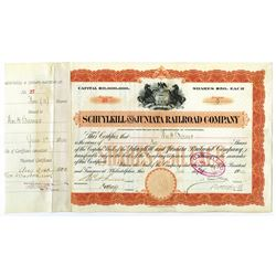 Schuylkill and Juniata Railroad Co., 1900 Issued Stock Certificate