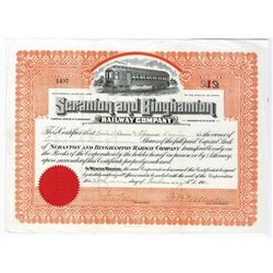 Scranton and Binghamton Railway Co., 1914 Issued Stock Certificate