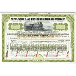 Cleveland and Pittsburgh Railroad Co., 1971 Specimen Stock Certificate