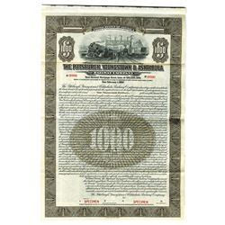 Pittsburgh, Youngstown & Ashtabula Railway Co., 1912 Specimen Bond