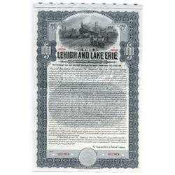 Lehigh and Lake Erie Railroad Co. Specimen Bond.