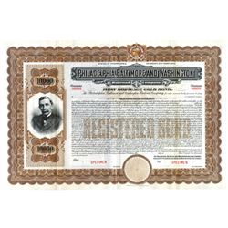 Philadelphia, Baltimore and Washington Railroad Co., ca.1900-1920 Specimen Bond