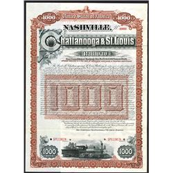 Nashville, Chattanooga & St. Louis Railway, Specimen Bond.