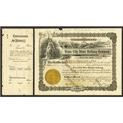 Texas City Street Railway Co. 1913, Issued Stock