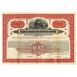 Missouri, Kansas and Texas Co., 1922 Specimen Bonds