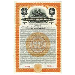 Missouri, Kansas and Texas Railroad Co., 1922 Specimen Bond
