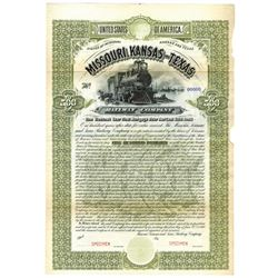 Missouri, Kansas and Texas Railway Co., 1890 Specimen Bond