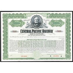 Central Pacific Railway Co., 1899 Specimen Bond.