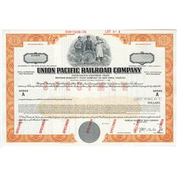 Union Pacific Railroad Co., 1970 Specimen Bond