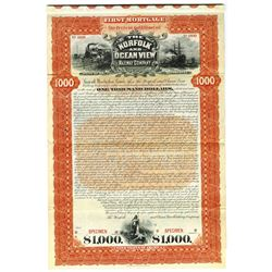 Norfolk and Ocean View Railway Co., 1898 Specimen Bond