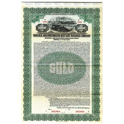 Norfolk and Portsmouth Belt Line Railroad Co., 1925 Specimen Bond