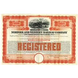 Norfolk and Western Railway Co., 1919 Specimen Bond