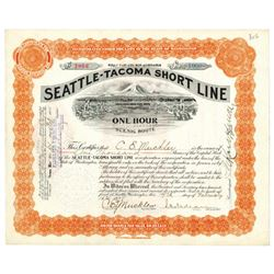 Seattle-Tacoma Short Line, 1908 Issued Stock Certificate