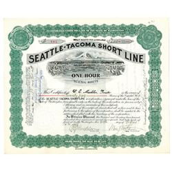 Seattle-Tacoma Short Line, 1908-1911 Issued Stock Certificate