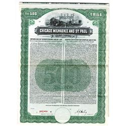 Chicago, Milwaukee and St. Paul Railway Co., 1910 Specimen Bond