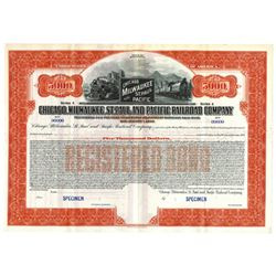 Chicago, Milwaukee, St. Paul and Pacific Railroad Co., ca.1910-1920 Specimen Bond