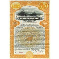 North Pacific Railway Co., 1922 Specimen Bond