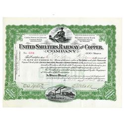 United Smelters, Railway and Copper Co., 1909 Issued Stock
