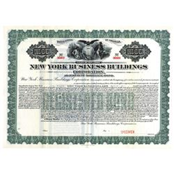 New York Business Buildings Corp., 1913 Specimen Bond