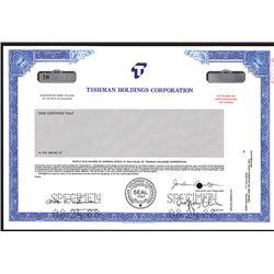Tishman Holdings Corp., Specimen Stock Certificate.