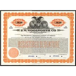 F.W. Woolworth Co. Specimen Bond.