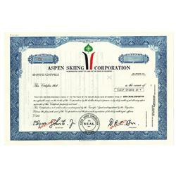 Aspen Skiing Corp., ca.1970-1980 Specimen Stock Certificate