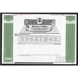 Boston Celtics, ca.1970-1980 Specimen Stock Certificate