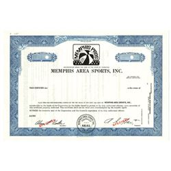 Memphis Area Sports, Inc., ca.1970-1980 Specimen Stock Certificate