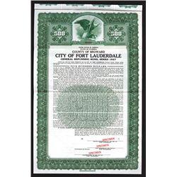 City of Fort Lauderdale, 1936, $500 Specimen Bond.