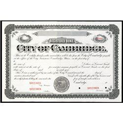 City of Cambridge, ca.1900-1920 Specimen Stock