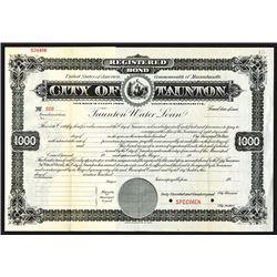 City of Taunton ca.1900 Specimen Bond.