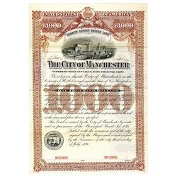 City of Manchester, 1896 Specimen Bond