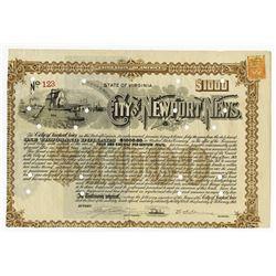 City of Newport News, 1913 Issued Bond