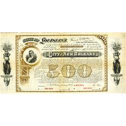 City of New Orleans. 1883. Specimen Bond.
